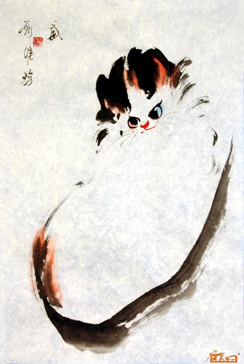 刘维芳-猫咪17-淘宝-名人字画-中国书画服务中心